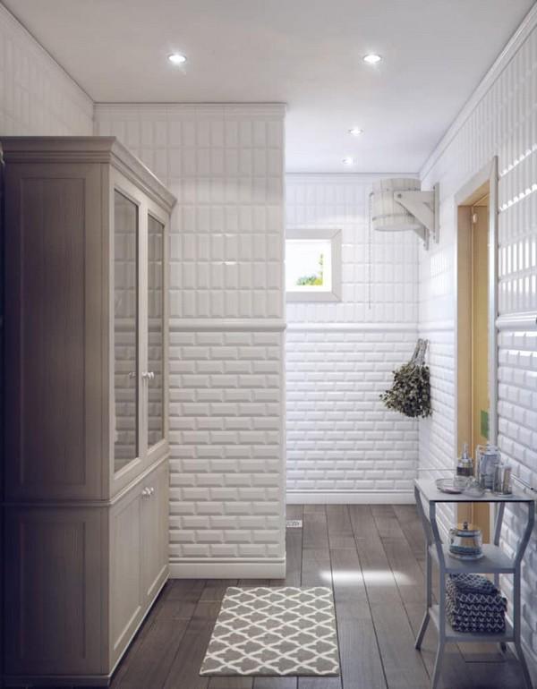 White Tiles For Bathroom Floor