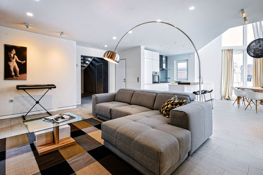 8-white-beige-and-gray-minimalist-Scandinavian-style-house-interior-design-open-plan-living-room-big-corner-sofa-rotating-floor-lamp-curtains-carpet-rug-kitchen-dining