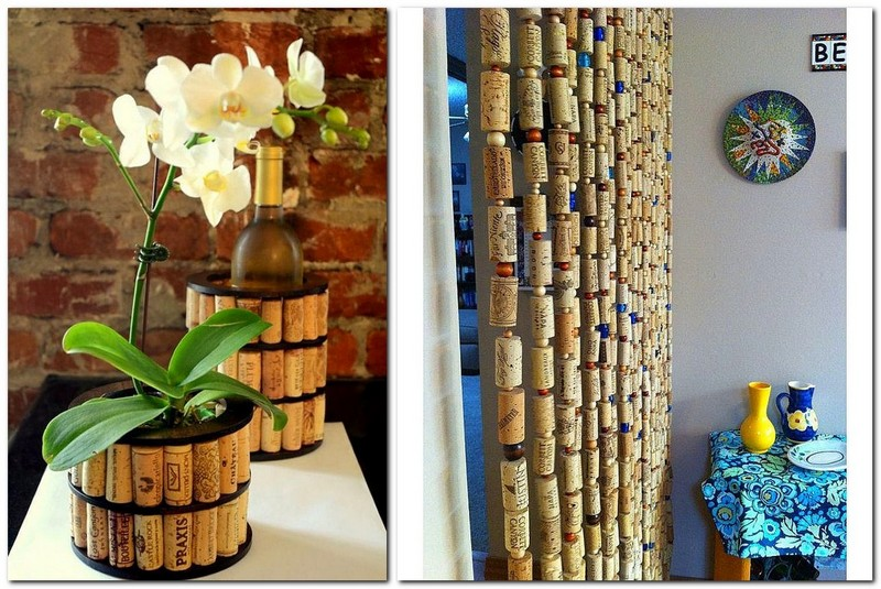 8-wine-cork-re-use-ideas-hand-made-flower-pot-decoration-curtains