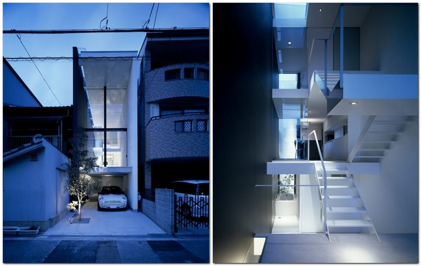 8-world's-narrowest-houses-by-Fujiwaramuro-Architects-Japan-narrow-room-interior-design-glass-panoramic-windows-staircase-unusual-architecture