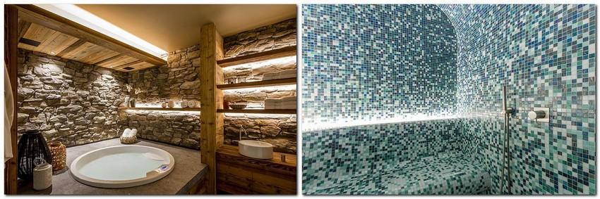 9-chalet-style-interior-design-stone-wood-bathroom-blue-mosaic-tiles