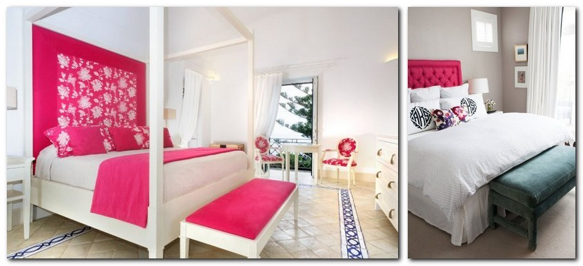 9-pink-yarrow-color-of-the-year-2017-pantone-in-interior-design-bedroom-bedspread-blanket-canopy-bed-textile-headboard-capitone
