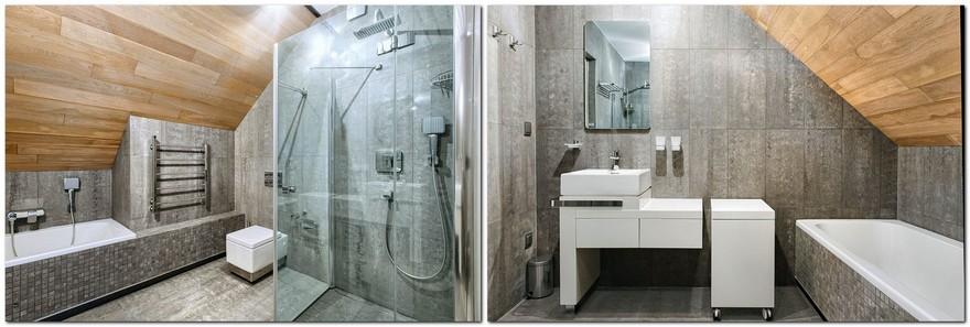 9-white-beige-and-gray-minimalist-Scandinavian-style-house-interior-design-bathroom-ceramic-granite-small-bathtub-glass-shower-cabin