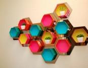 DIY: Decorative Hexagonal Shelving Unit