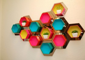 0-DIY-bright-multicolored-handmade-hexagonal-honeycomb-shelving-unit-decorative-shelves-wall-decor-with-mirrored-tiles