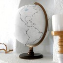 0-DIY-handmade-vintage-white-painted-globe