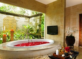 0-TV-set-in-bathroom-interior-design-beige-square-wall-tiles-romantic-red-rose-petals-bath-panoramic-window-tropical-plants-oriental-style