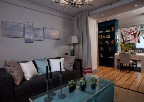 00-nautical-style-motives-in-living-room-interior-design-deck-floor-gray-and-blue-colors-sisal-rug-paintings-bookstand-work-area-curtains