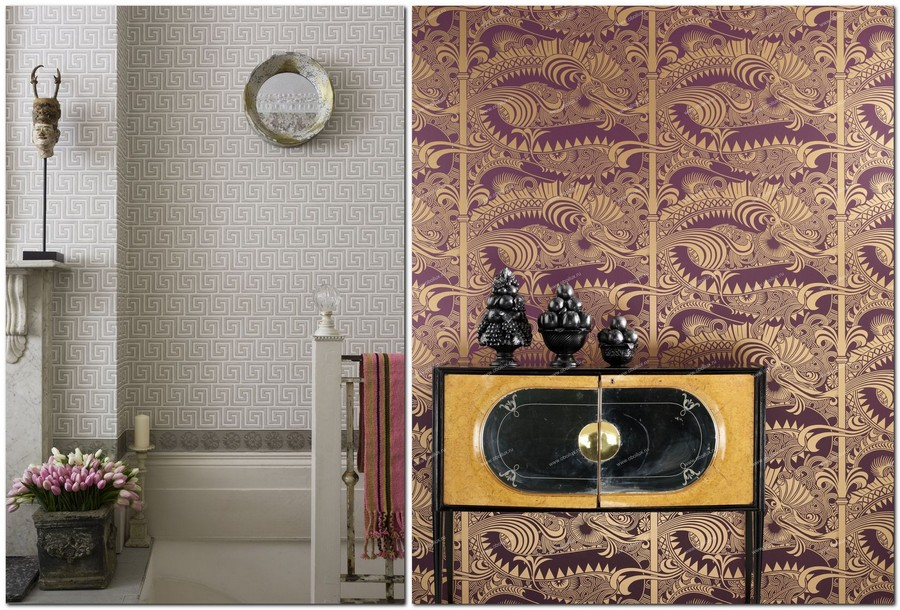 1-1-cole-and-son-greek-meander-pattern-gray-purple-and-gold-dragon-English-British-style-wallpaper-design-Georgian