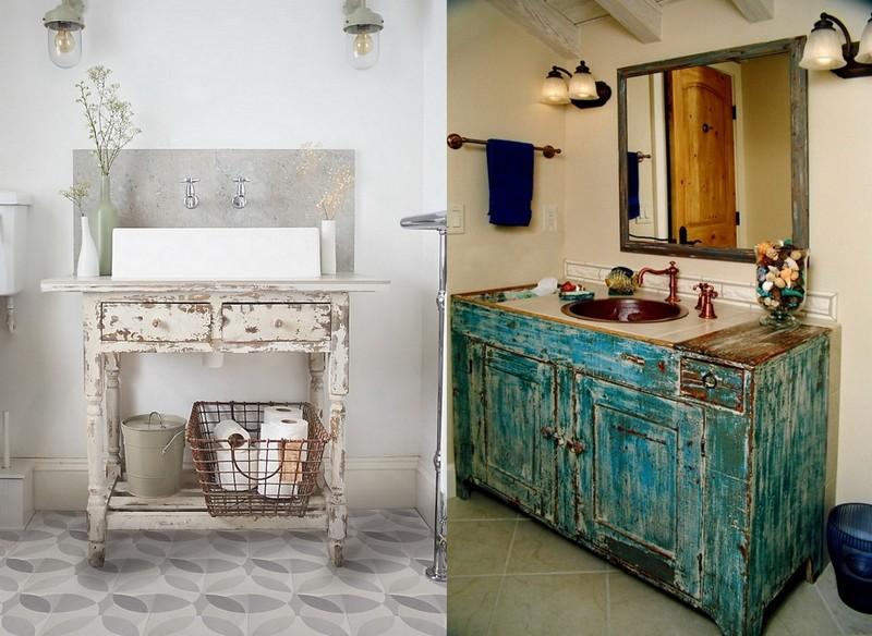 1-Provence-style-bathroom-interior-design-vintage-retro-bathtub-decor-pastel-colors-furniture-worn-aged-wash-basin-cabinet