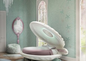 1-circu-Portugal-dream-fantastic-kids-furniture-design-sea-shell-shaped-bed-Little-Mermaid