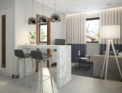 Functional Scandinavian-Style Apartment in White, Gray & Blue