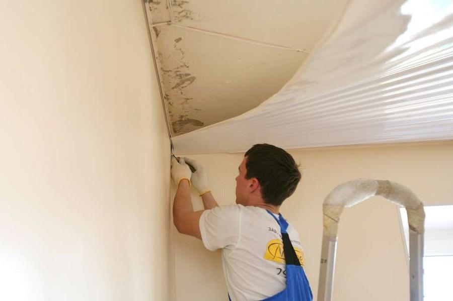 1-stretch-ceiling-installation-process-stretching-film
