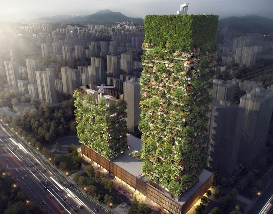 1-vertical-forest-eco-building-skyscraper-by-Stefano-Boeri-modern-architecture