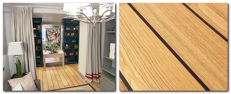 11-nautical-style-motives-in-living-room-interior-design-deck-floor-light-teak-wood-dark-seams-joints-curtains-blue-and-gray-bookstands