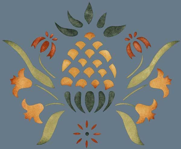 2-3-pineapple-colonial-pattern-English-British-style-wallpaper-design-Victorian