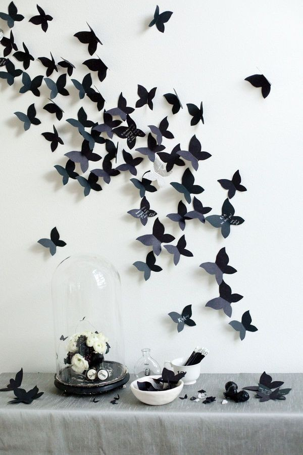 2-butterfly-wall-art-decor-ideas-gothic-black-and-white