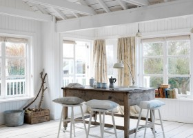 2-naturalistic-rustic-style-interior-design-wooden-furniture-floor-walls-ceiling-white-coffee-pot-big-windows-desk-lamp-bar-stools