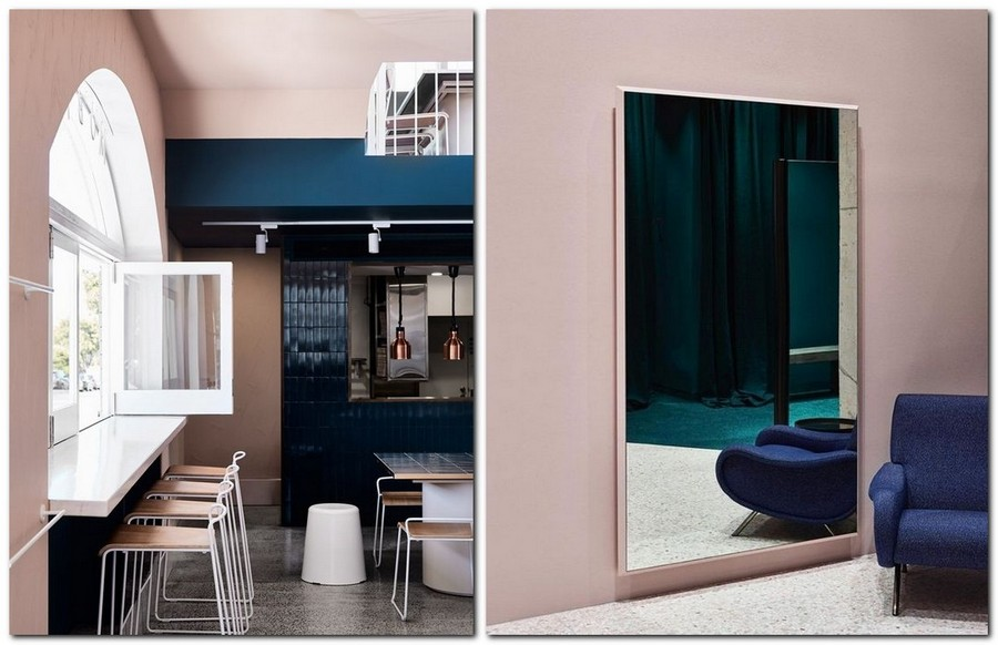 2-top-colors-2017-Pantone-lapis-blue-in-interior-design-and-pale-dogwood-powder-pink-kitchen-set-living-room-walls-arm-chair