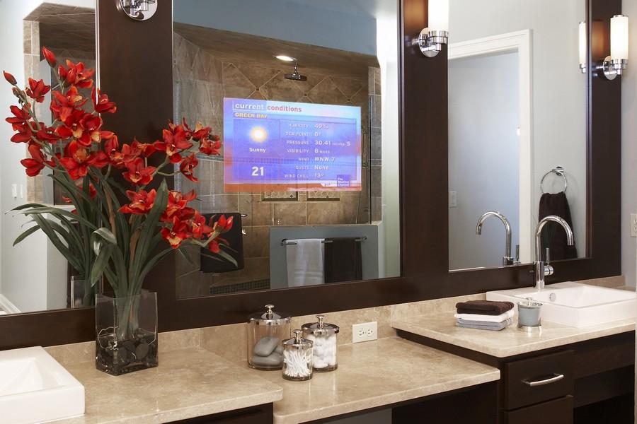 3-Mirror-TV-set-in-bathroom-interior-design-wash-basin-beige-stone