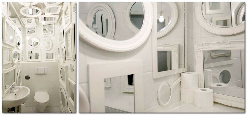 3-creative-unusual-interesting-WC-restroom-toilet-interior-design-idea-many-white-framed-mirrors-on-ceiling-and-walls-tulp-Germany