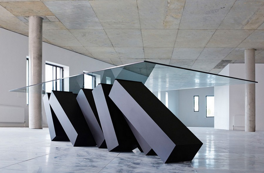 4-2-exclusive-creative-designer-table-by-Duffy-London-Megalith-Table-glass-top-and-steel-framework