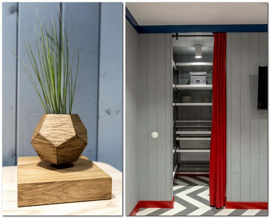 4-4-bright-gray-red-blue-attic-room-interior-design-wooden-boards-walls-painted-herringbone-parquet-floor-skirting-board-curtained-walk-in-closet-geometrical-wooden-flower-pot