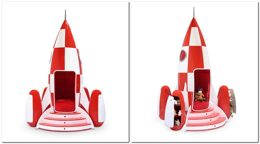 4-circu-Portugal-dream-fantastic-kids-furniture-design-rocky-rocket-shaped-arm-chair-red-and-white-velvet-upholstery