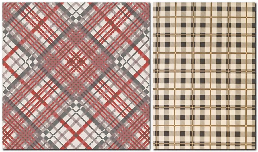 5-1-scottish-squares-checquered-tartan-pattern-English-British-style-wallpaper-design