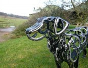 Metal Garden Sculptures by Tom Hill & Vadim Kuleshov