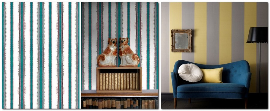 5-2-striped-gray-and-yellow-blue-and-white-English-British-style-wallpaper-design
