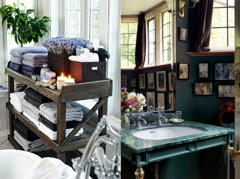 5-Provence-style-bathroom-interior-design-vintage-retro-bathtub-decor-pastel-colors-furniture-photos-lavender-candles-shelves-wash-basin