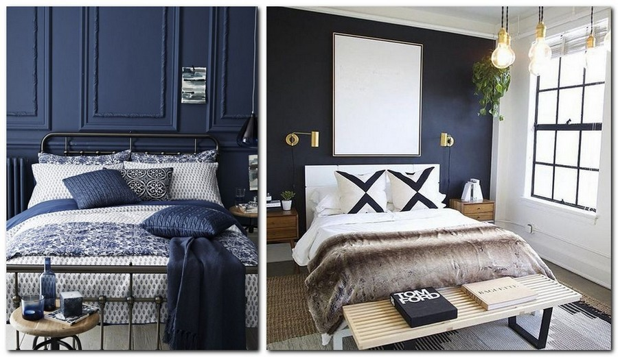 5-top-colors-2017-Pantone-lapis-blue-in-interior-design-bedroom-walls-and-white-bed-linen-home-textile-bedspread-pillows