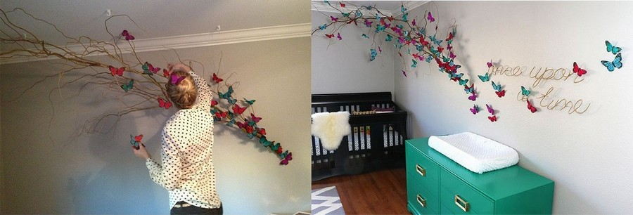6-butterfly-wall-art-decor-ideas-tree-branch-naturalistic-style-baby-room