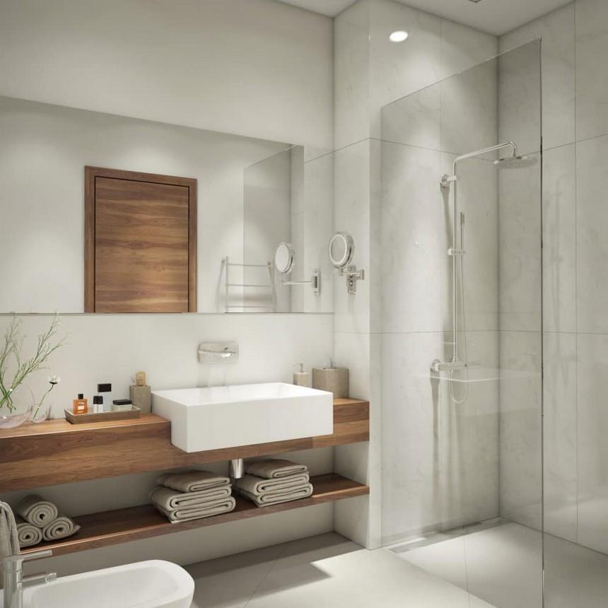 6-minimalist-Scandinavian-style-bathroom-interior-design-big-wash-basin-rain-shower-cabin-glass-mirror-towel-shelf-storage-white-American-walnut-veneer