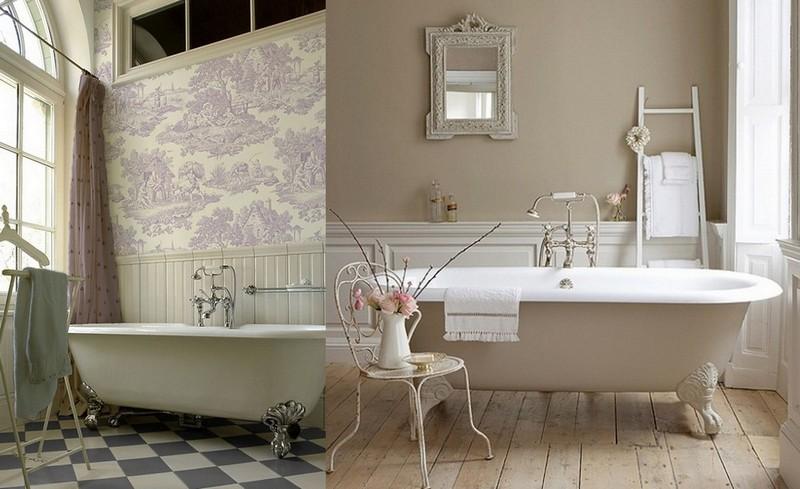 7-Provence-style-bathroom-interior-design-vintage-retro-bathtub-decor-pastel-colors-furniture-clawfoot-bath-ladder-coffee-table-wall-tiles