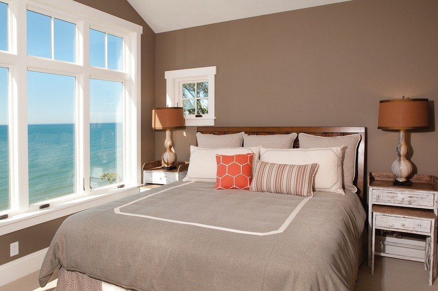 7-traditional-style-bedroom-interior-design-gray-and-beige-colors-vintage-bedside-tables-lamps-panoramic-windows-ocean-sea-view-no-curtains