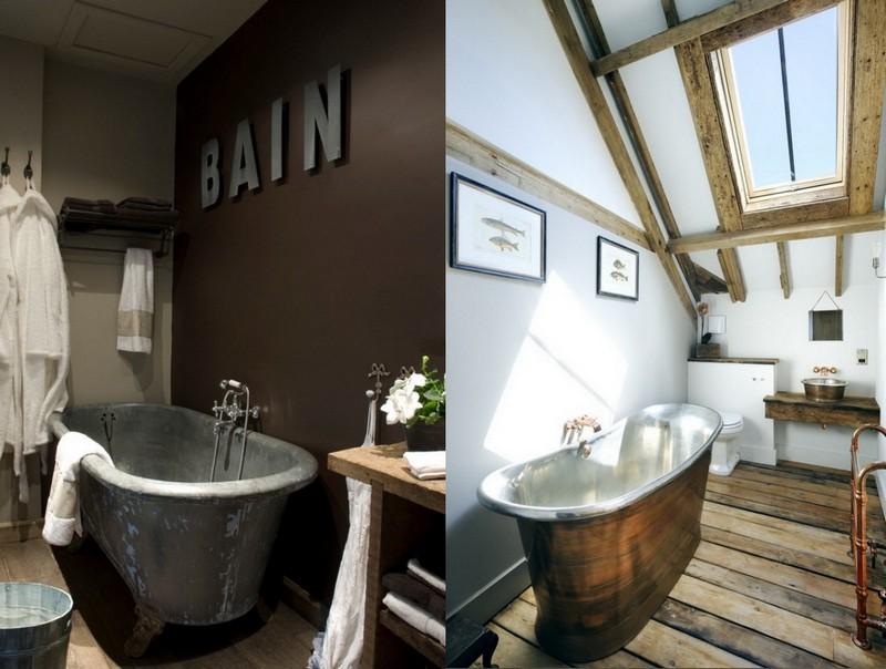 9-Provence-style-bathroom-interior-design-vintage-retro-bathtub-decor-pastel-colors-furniture-metal-bath-sloped-ceiling-skylight