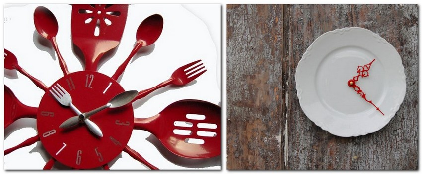 9-how-to-re-use-old-plates-dishes-cutlery-ideas-clock-DIY-handmade