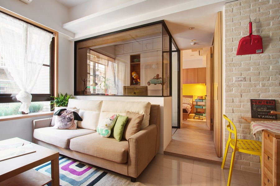 """""""Minuet"""": Neutral Functional Small Apartment with Cheerful ..."""