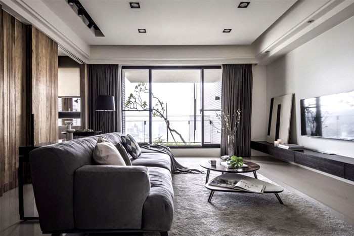 0-contemporary-minimalist-naturalistic-style-interior-design-white-walls-glossy-floor-gray-black-beige-accents-wooden-wall-panels-wood-grain-living-room-sofa-rug