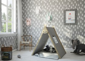 0-kids-children-toddler-room-interior-design-contemporary-style-gray-and-white-wigwam-teepee-rocking-elephant-chair