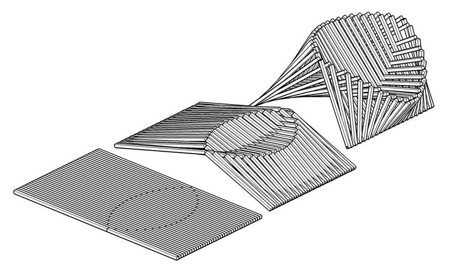 1-2-The-Rising-Chair-by-Robert-van-Embricqs-Dutch-designer-wooden-furniture-bamboo-folding-transforming-scheme