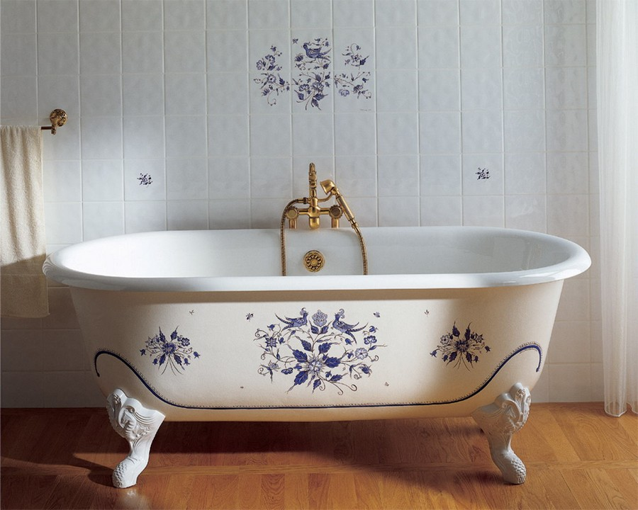 vintage bathroom design what bathtub material to choose cast iron steel or 15352