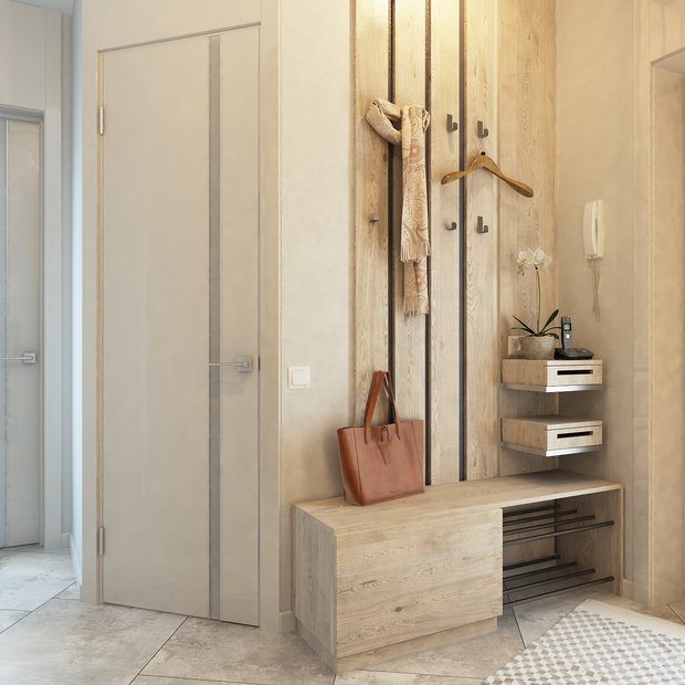 1-2-contemporary-style-interior-design-in-white-beige-gray-neutral-colors-entrance-hall-hallway-full-length-mirror-decorative-wooden-wall-ceiling-panels-bench-shoe