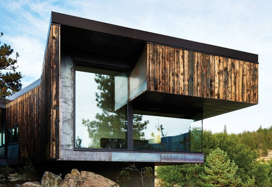 1-burnt-charred-wood-house-siding-exterior-lumber-boards-panoramic-window