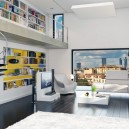 1-innovative-smart-home-technologies-2017-interior-design-contemporary-living-room-panoramic-window-city-view-light-gray-modular-sofa-floor-lamp-winding-staircase-mezzanine-home-library
