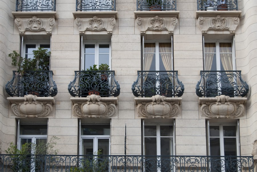 11-beautiful-balconet-balconette-Juliet-balcony-in-architecture-exterior-design-wrough-metal-railing-forgery-barrier-flower-bed