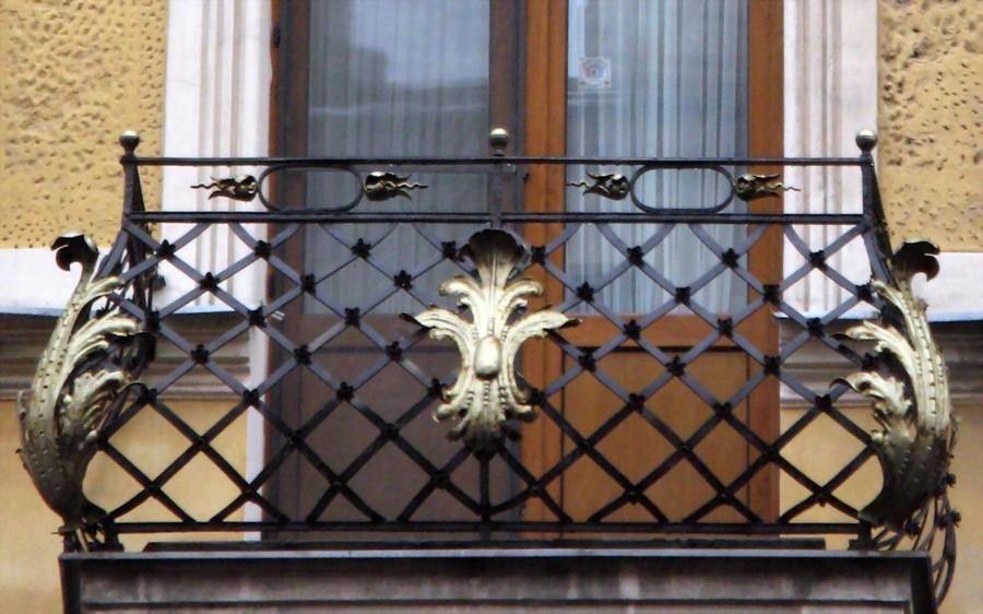16-beautiful-balconet-balconette-Juliet-balcony-in-architecture-exterior-design-wrough-metal-railing-forgery-barrier-golden-leaf