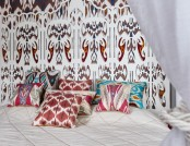 Amazing Contemporary Bedroom with Oriental Spirit & Ikat Patterns